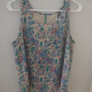 Adorable tunic style tank with exposed zipper